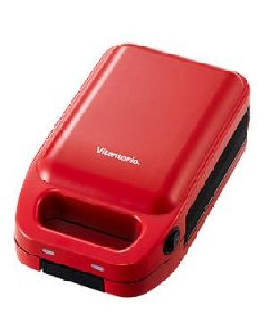 Vitantonio(ビタントニオ) 厚焼きホットサンドベーカー 4968291308518 gooood VHS-10-TM [トマト]
