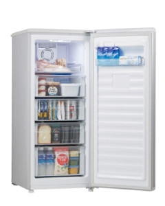 Haier(ハイアール) 102L 前開き式冷凍庫 4562117087641 JF-NUF138B-S [シルバー]