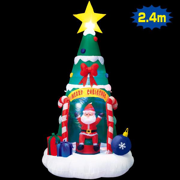 エアブロー サンタインツリー|クリスマス装飾デコレーション