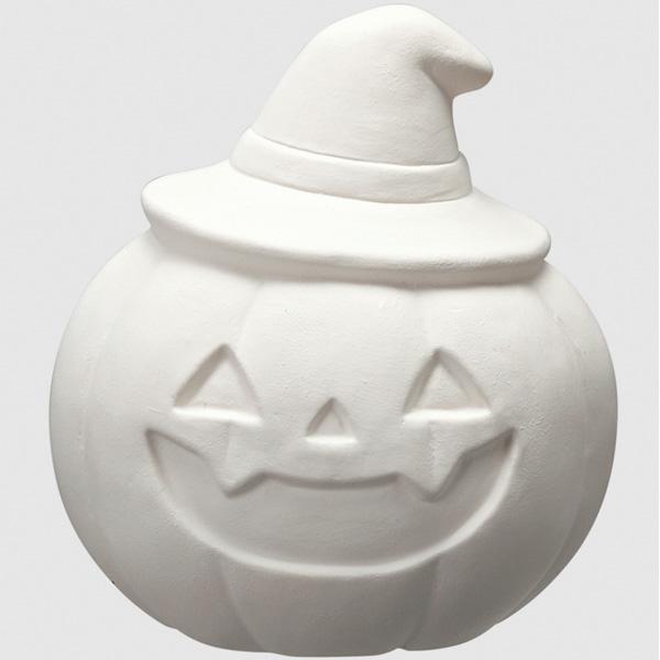 お絵描きハロウィン貯金箱 100個セット 直径7×H10cm 陶器【100個入】