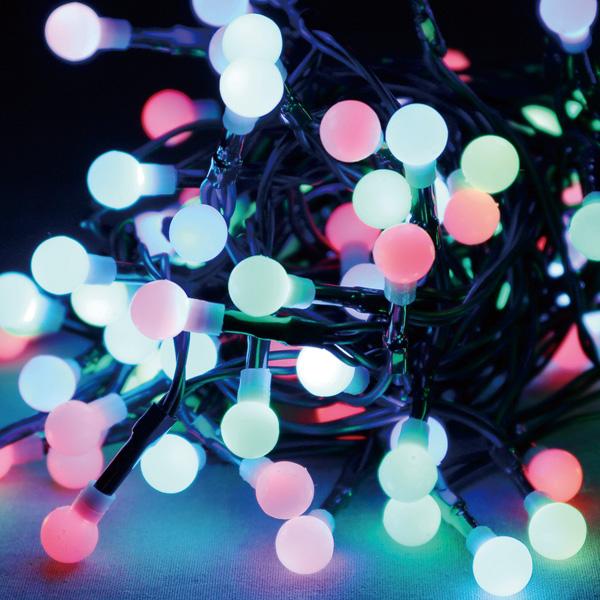 72球マルチファンクションLEDライト クリスマスデコレーション イルミネーションライト  TG5-1072  全長約7.8m