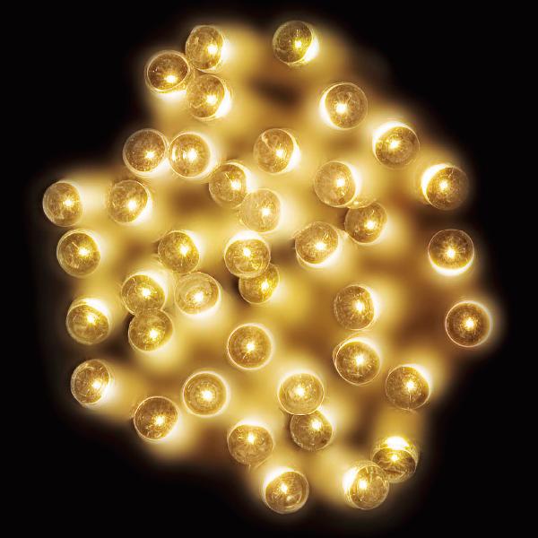防滴100球LEDライト(ゴールド) 全長約13M 【1本入】