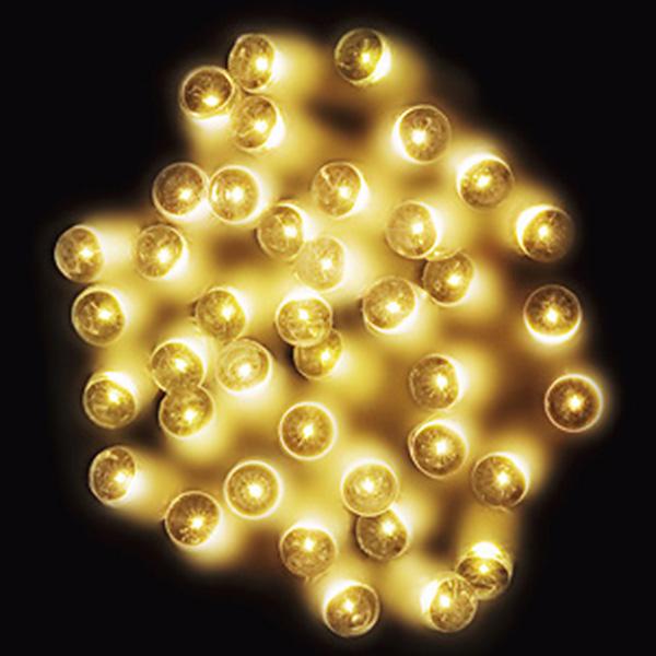 防滴200球LEDライト(ゴールド) 全長約24m(コードの部分の長さ/約4m) 【1セット入】