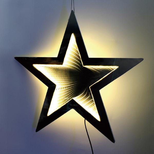 LEDミラーライト(スター) H58×W58×D2cm 【1ヶ入】