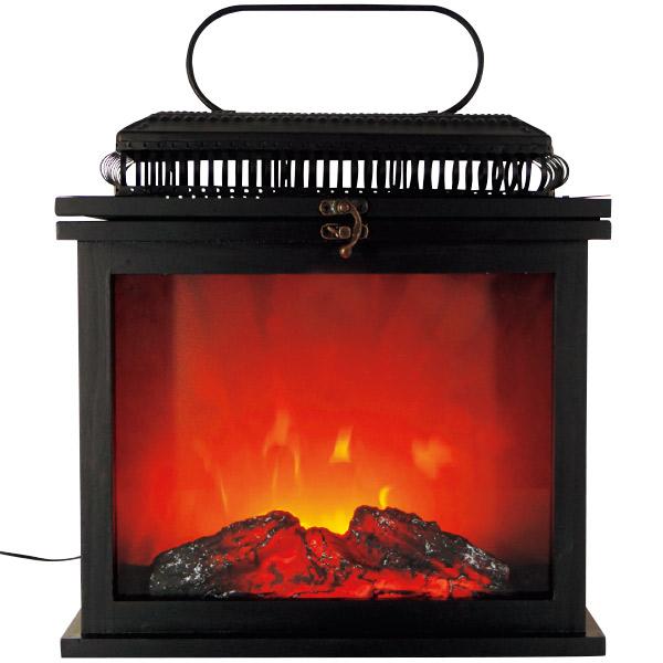 暖炉型フレイムランタン 冬デコレーション その他 (小物など)  TG8-0006  H39×W32×D16cm
