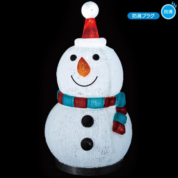 LEDクリスタルモチーフ (ミドルスノーマン) クリスマスデコレーション イルミネーションライト  TX5-0021  H110×W60×D62cm 【時間指定不可】