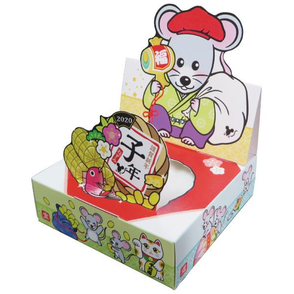 遊遊ティッシュ 日本の正月(打ち出の小槌) 11×11×3.5cm 【100個入】