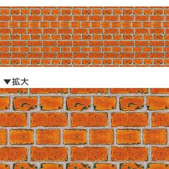 レンガ幕(腰幕) | ビニール幕 レンガ(写真)[高さ60cm×50M巻]