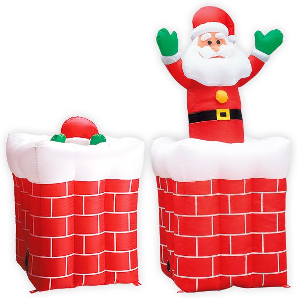ムービングエアブロー エントツサンタ|クリスマス演出装飾用