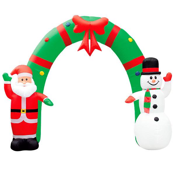 エアブロー サンタ&スノーマンアーチ|クリスマス(Xmas)エアPOP