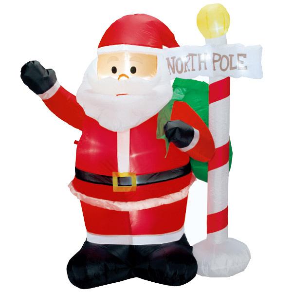 エアブロー サンタ&ノースポール|クリスマス(Xmas)エアPOP