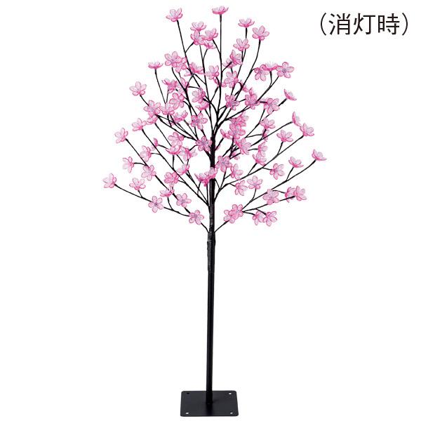 120cmLED桜ライトスタンド 春デコレーション 立木  TG1-0002  H120×W65cm