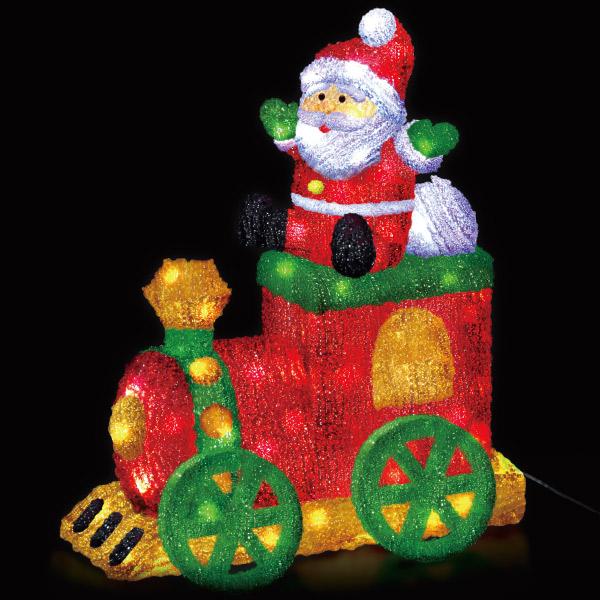 LEDクリスタルモチーフ|クリスマス (Xmas)イルミネーション・照明演出(サンタトレイン)