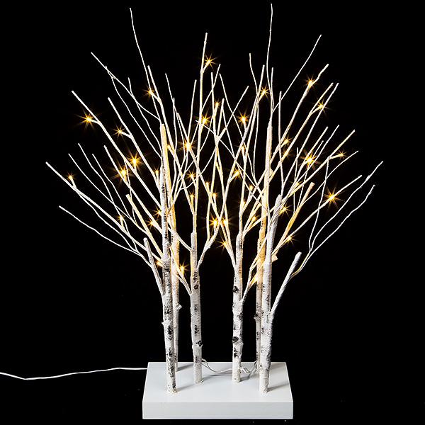 LEDホワイトブランチスタンド クリスマス (Xmas)イルミネーション・照明演出