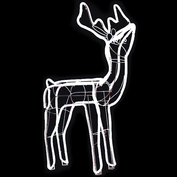 LEDネオンモチーフトナカイ クリスマスデコレーション イルミネーションライト  TG5-7074  H106×W86×D50cm