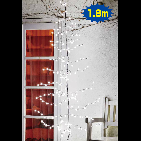 LEDハンギングライトツリー(ホワイト) クリスマス (Xmas)イルミネーション・照明演出
