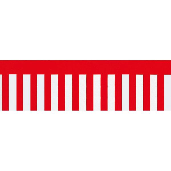 紅白幕(腰幕) | ビニール幕 紅白幕 [90cm(H)]