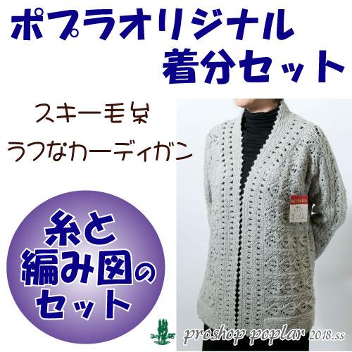 【秋冬】ラフなカーディガン【中級者】【編み物キット】