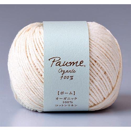 単色 綿-60% 25g玉巻 ついに再販開始 約66m 合太 1玉 毛糸のポプラ ポームコットンリネン ハマナカ 0143 コットン 綿 取寄商品 営業 毛糸