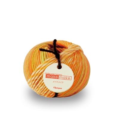 段染 ウール-90% 25g玉巻 約62m 並太 1玉 毛糸のポプラ お気に入り 毛糸 毛 メイクメイク 合太 オリムパス 大人気 色番1~26 ウール 在庫商品