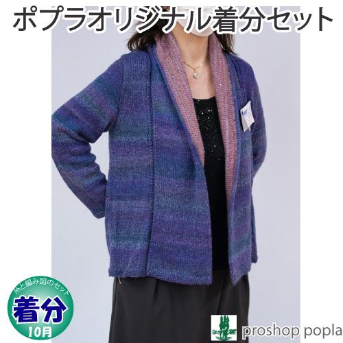 【着分パック】ダブル襟のカーディ【中級者】【編み物キット】