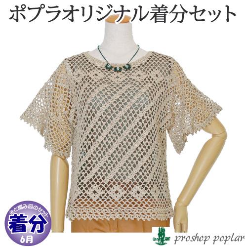 【春夏】ラッフルスリーブプルオーバー【中級者】【編み物キット】