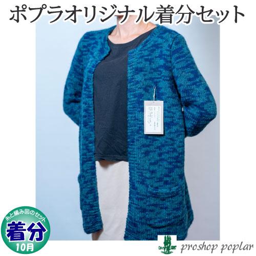 【秋冬】ポケット付ロングカーディガン【中級者】【編み物キット】