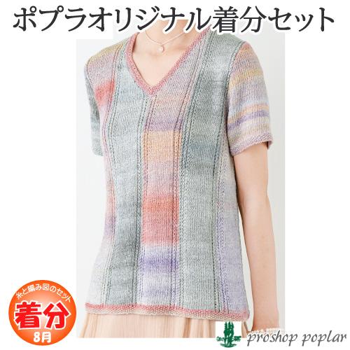 【春夏】縦ライン模様の半袖プル【着分パック】【編み図付】