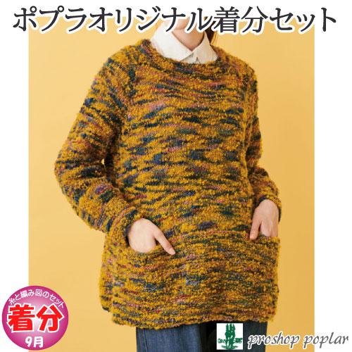 【秋冬】ポケット付きロングプルオーバー【中級者】【編み物キット】