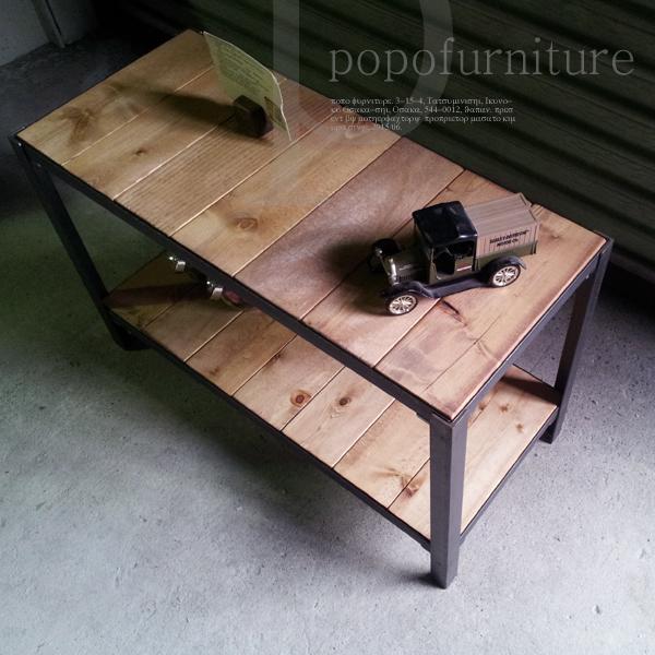 アイアンウッドを使用したデザインシェルフ家具シューズラック ローボード 飾り台 L型アングル アイアンフレーム 2段シェルフ アジャスト付 鉄脚