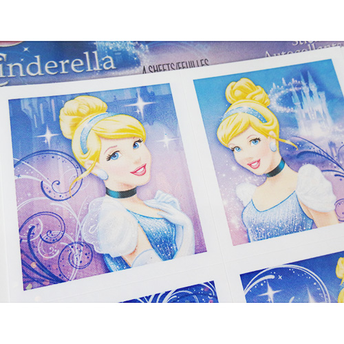 Disney CINDERELLA Princess Stickers 4 Sheets!