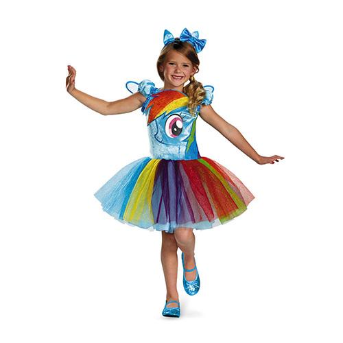マイリトルポニー コスチューム レインボーダッシュ 4~6歳用 11718 My Little Pony ドレス パーティー ハロウィン 服 衣装 コスプレ 4歳 5歳 6歳 キッズ 子供用 幼児 女の子 かわいい キャラクター グッズ インポート メール便不可