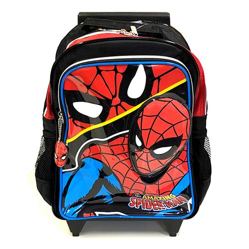 スパイダーマン 光るローリングバックパック 12909 SPIDER-MAN MARVEL キャリーバッグ リュックサック キャリーケース タイヤ付き ガラガラ コロコロ メール便不可