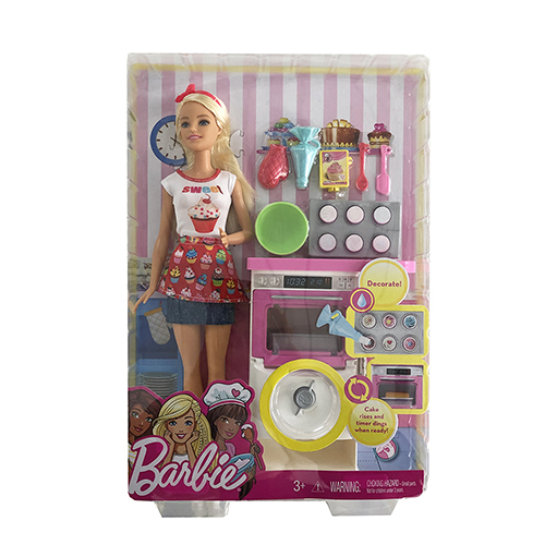 バービー ドール オーブン プレイセット 14331 本体 人形 バービーグッズ ごっこ遊び 女の子 おしゃれ かわいい ドール用 こものセット パーツ Barbie 小物 キャラクター オーブン キッチンセット ラッピング グッズ 雑貨 かわいい 輸入 インポート 送料無料 メール便不可