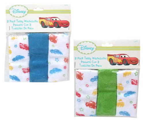 Cars baby wash cloth set wipes Yu baby toy Disney CARS portable packets available