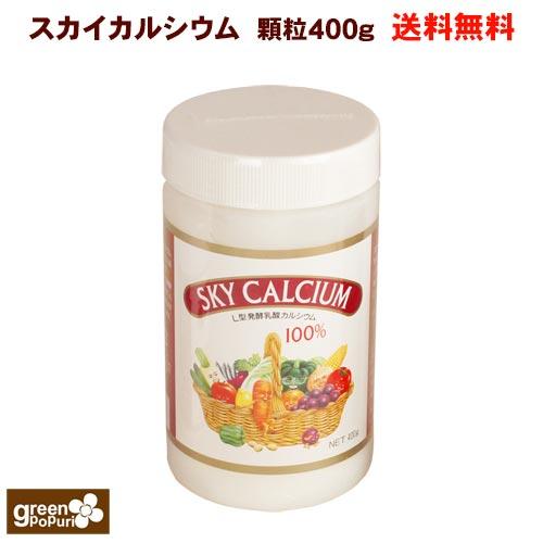 新作 植物性L型乳酸発酵カルシウム スカイカルシウム スカイフード 営業 送料無料 顆粒400g