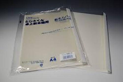 とじ太くん製本カバー クリアホワイトA4タテ綴じ 背幅30mm 70冊/徳用箱入
