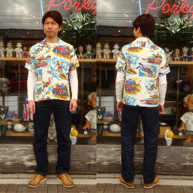 "Mister freedom MFSC×SUN SURF ""ROCK 'N' ROLL SHIRT / rock'n ' roll t-shirt"" SC36970"