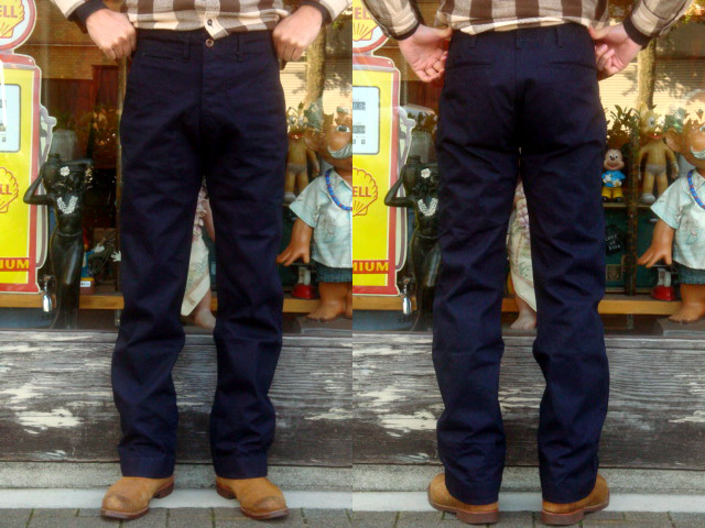"MISTER FREEDOM×SUGAR CANE (Mister freedom) MFSC RE-ISSUE COLLECTION ""11.7 oz. INDIGO CANVAS NAVAL CHINOS ""SC41560"