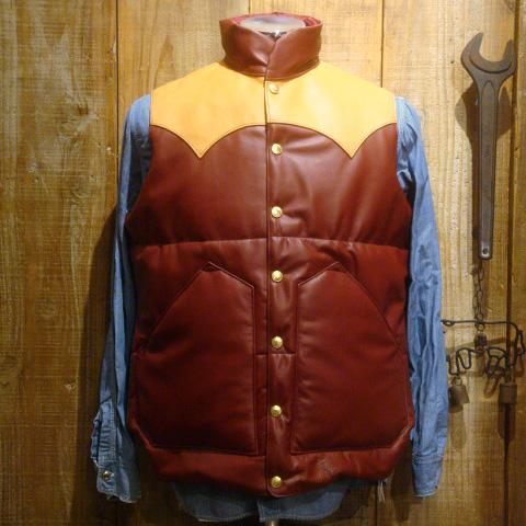 """【送料無料】 RAINBOW COUNTRY(レインボーカントリー) """"All Leather Primaloft Vest/オールレザーダウンベスト"""" RCL-10057HC"""