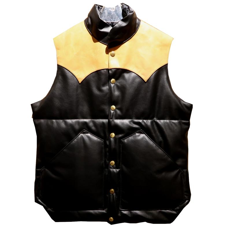"""【送料無料】 RAINBOW COUNTRY(レインボーカントリー) """"All Leather Primaloft Vest/オールレザーダウンベスト"""" RCL-10057HC メンズ"""