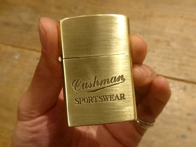 "CUSHMAN (Cushman) ""20TH. ANNIVERSARY BRASS OIL LIGHTER/ brass oil writer"" 29192"