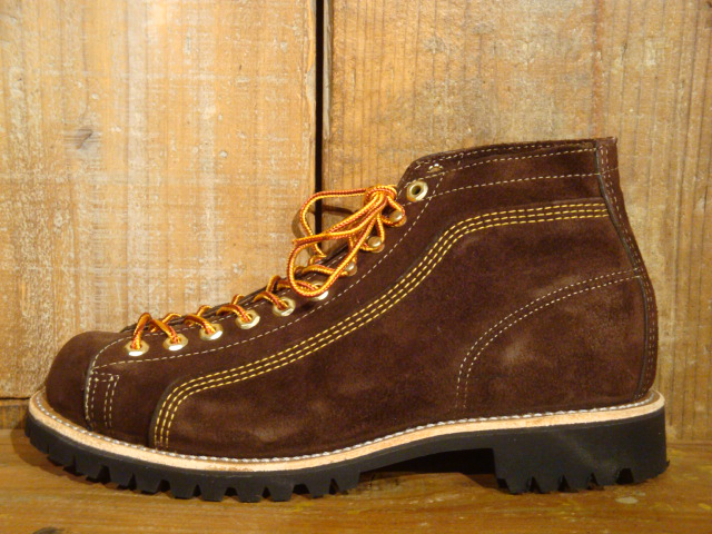 BOOTS of note BROWN SUEDE ROOFER WAREHOUSE ( warehouse ) ウェインブレナー