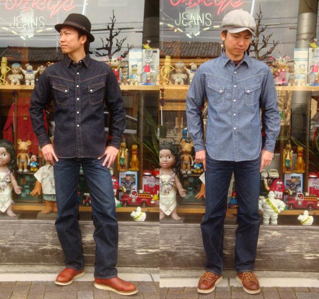 "TCB jeans (jeans TCB) Western ""Ranchman Shirt / Runciman shirt"" 532P19Mar16"