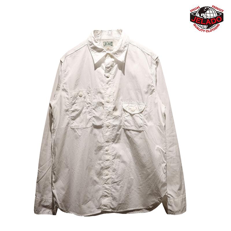 """【送料無料】 JELADO(ジェラード) STANDARD COLLECTION """"Smoker Shirt/スモーカーシャツ"""" JP94113 メンズ アメカジ ワークシャツ 綿ブロード"""
