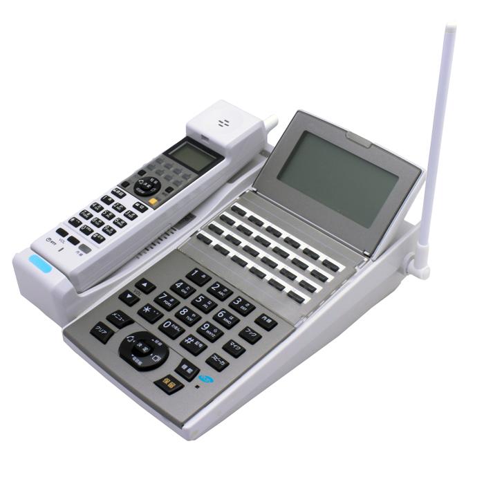 【中古ビジネスホン/中古ビジネスフォン】【中古】 NTT aNX2用 カールコードレス NX2-24CCLSTEL-(1)(W) 24ボタン 【ビジネスホン/ビジネスフォン 業務用 電話機 カールコードレス】