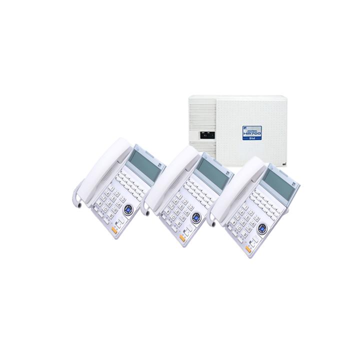 【中古ビジネスホン/中古ビジネスフォン】【中古】 saxa HM700 Std 3台セットビジネスフォン【ビジネスホン/ビジネスフォン 業務用 電話機 卓上型】