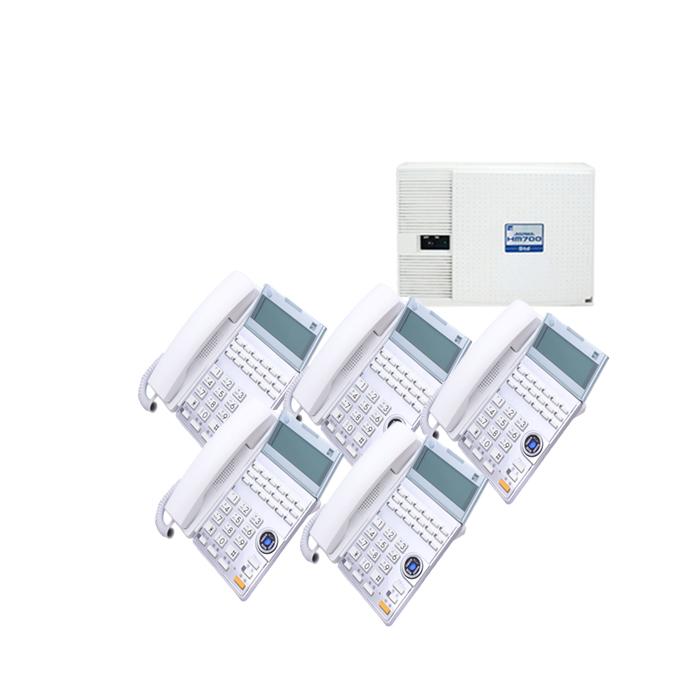 【中古ビジネスホン/中古ビジネスフォン】【中古】 saxa HM700 Std 5台セットビジネスフォン【ビジネスホン/ビジネスフォン 業務用 電話機 卓上型】
