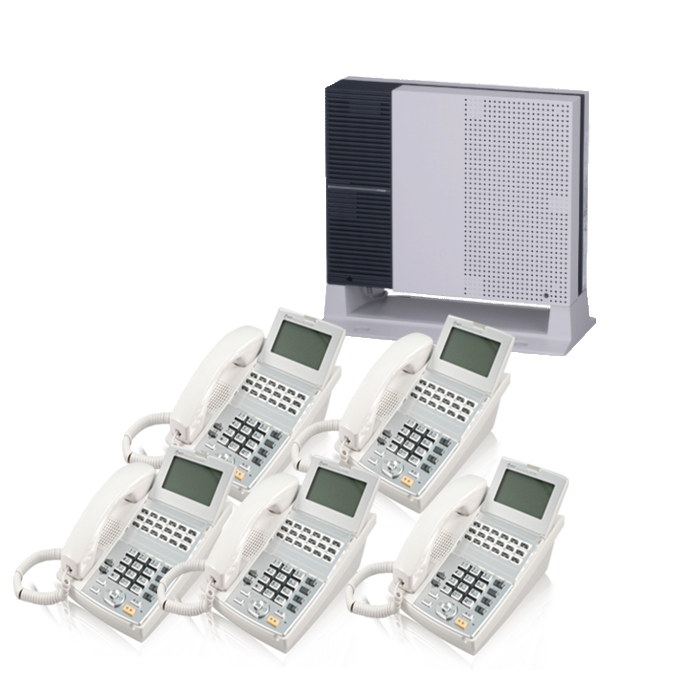 【中古ビジネスホン/中古ビジネスフォン】工事費不要 配線設定済み【中古】 NTT-NXS 5台セットビジネスフォン【ビジネスホン/ビジネスフォン 業務用 電話機 卓上型】