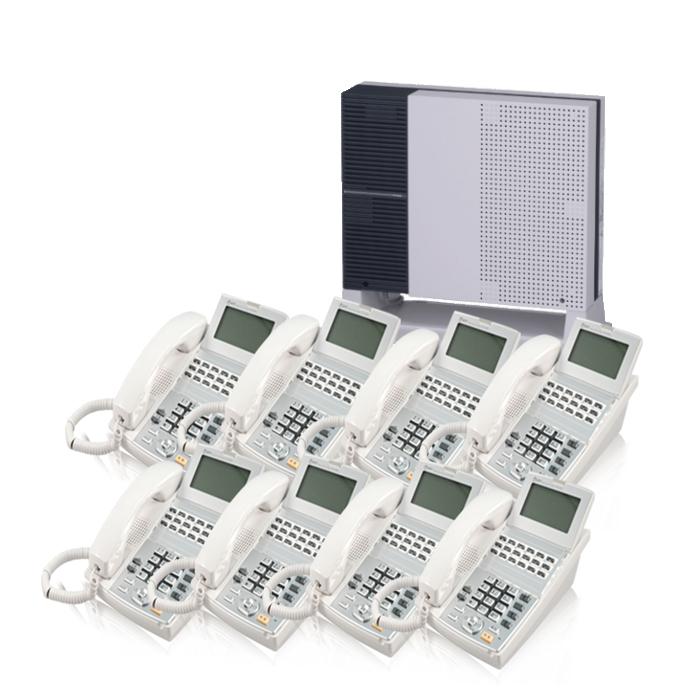 【中古ビジネスホン/中古ビジネスフォン】工事費不要 配線設定済み【中古】 NTT-NXS 8台セットビジネスフォン【ビジネスホン/ビジネスフォン 業務用 電話機 卓上型】